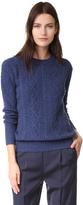 TSE Boyfriend Cable Crew Sweater