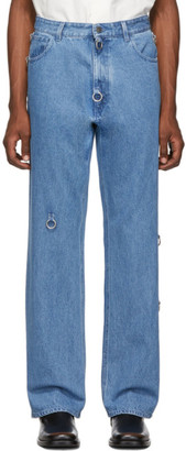 Raf Simons Blue Relaxed-Fit Jeans