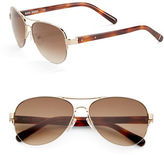 Bobbi Brown The Angelina 57mm Aviator Sunglasses