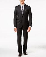 Kenneth Cole Reaction Men's Slim-Fit Technicole Black Tonal Check Suit