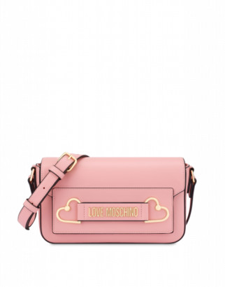 Love Moschino Shoulder Bag Metal Hearts Woman Pink Size U It - (one Size Us)