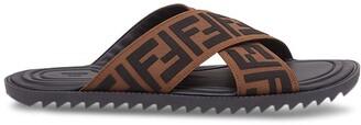 Fendi Jacquard Crossover Slides