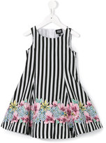 Armani Junior striped dress - kids - Polyester/Cotton - 4 yrs