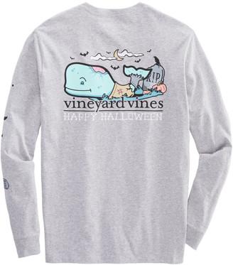 Vineyard Vines Halloween Zombie Whale Long-Sleeve Pocket T-Shirt