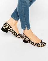 Dune Alanah Leopard Pony Flat Shoes
