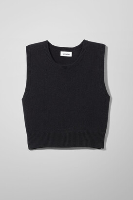 Weekday Cher Wool Vest - Black