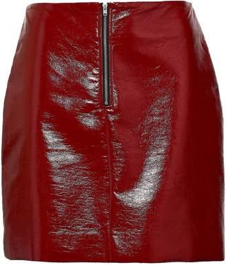 Dagmar House Of Crinkle Coated Faux Leather Mini Skirt