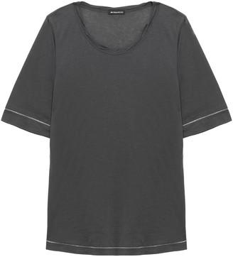 Ann Demeulemeester Embroidered Cotton And Silk-blend Jersey T-shirt