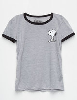 Mighty Fine Snoopy Girls Ringer Tee