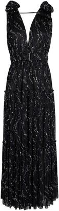Sabina Musayev Rita Plisse Lurex Maxi Dress