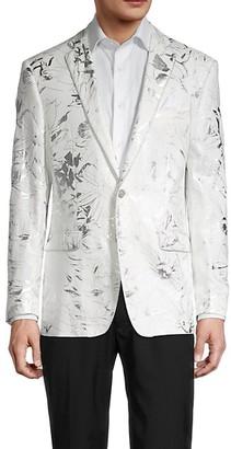 Tallia Metallic Floral Dinner Jacket