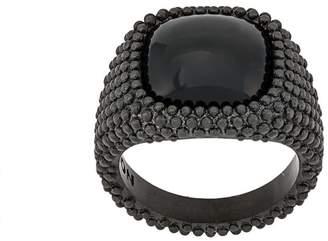 Nove25 Total Black signet ring