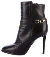 Diane von Furstenberg Leather Embellished Ankle Boots