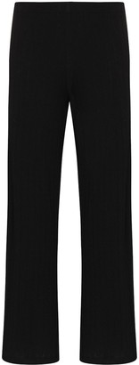 Leset Pointelle Detail Cropped Trousers