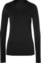 Closed Cotton-Cashmere Long Sleeve T-Shirt in Black