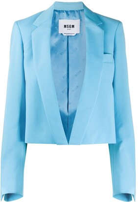 MSGM Open-Front Cropped Blazer