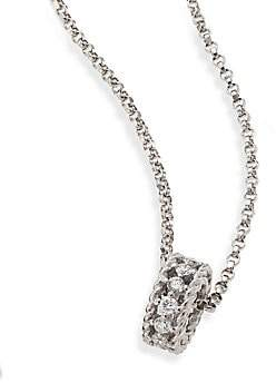 Roberto Coin Women's Symphony Braided 0.22 TCW Diamond & 18K White Gold Pendant Necklace