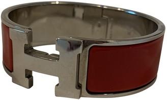 Hermã ̈S HermAs Clic H Red Metal Bracelets