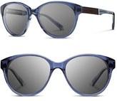 Shwood Women's 'Madison' 54Mm Round Sunglasses - Black/ Ebony/ Grey
