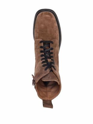 Paul Warmer Side-Zip Low-Heel Ankle Boots