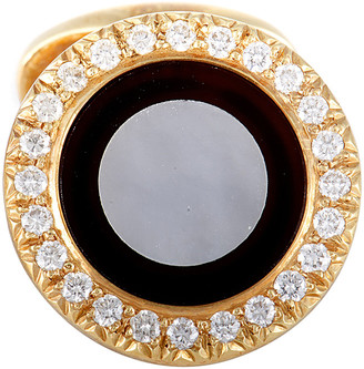 Mother of Pearl Heritage Piaget Piaget 18K 1.25 Ct. Tw. Diamond, Onyx, & Mother-Of-Pearl Earrings