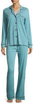 Cosabella Bella Stripe-Print Long-Sleeve Pajama Set, Blue
