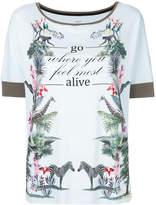 Marc Cain alive print T-shirt