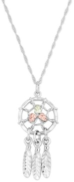 Black Hills Gold Dream Catcher Pendant in Sterling Silver with 12k Rose and Green Gold