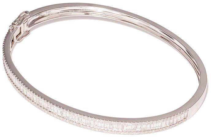 Anne Sisteron Diamond Eloise White-Gold Bangle Bracelet