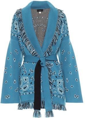 Alanui Exclusive to Mytheresa Bandana jacquard cashmere cardigan