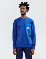 Poler OD Bag It Crew Sweatshirt Blue