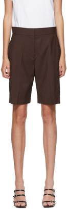 MSGM Brown Suiting Shorts