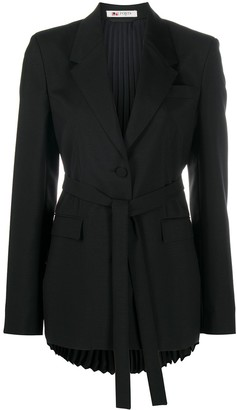Ports 1961 Belted Pleated-Panel Blazer
