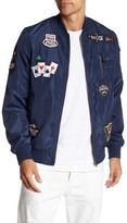 Soul Star Embroidered Patch Bomber Jacket