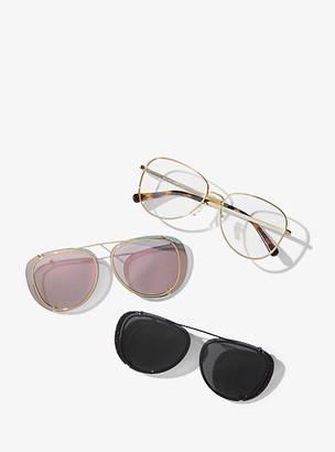Michael Kors 3-in-1 Sicily Eyeglasses - Rose Gold