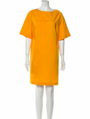 Hermes Scoop Neck Mini Dress Yellow