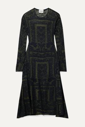 By Malene Birger Onix Jacquard-knit Midi Dress - Black