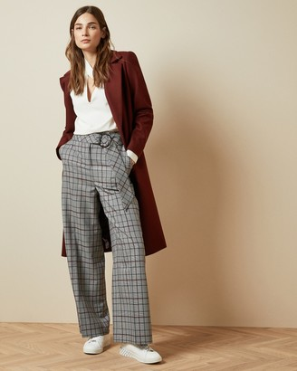 Ted Baker MARRNI Wide leg checked pants