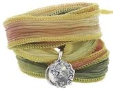 Catherine Michiels Always Silver Charm & Silk Bracelet Wrap