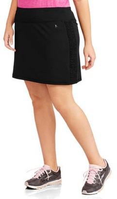 Danskin Women's Plus-Size Skort with Ruched Siding