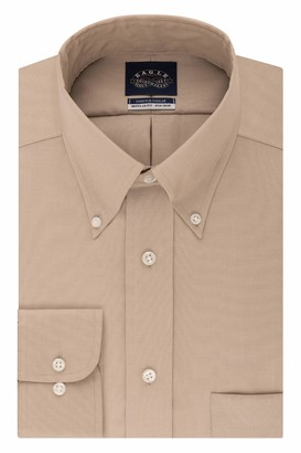 Eagle Mens Regular Fit Non Iron Stretch Collar Solid Dress Shirt