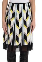Emilio Pucci Illusion Hemline Silk Skirt