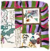 Etro frayed trim scarf - women - Silk/Viscose - One Size