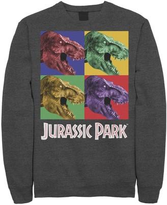 Licensed Character Men's Jurassic Park Four Square Dino Pop Art Style Pullover Fleece