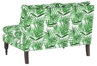 "Skyline Furniture 47"" Wide Cotton Armless Settee Body Fabric: Palm Green Floral"