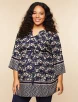Motherhood Maternity Plus Size Removable Waist Tie Maternity Tunic