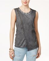 True Religion Cotton Stud-Embellished Top