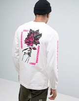 Obey Long Sleeve Tee With Floral Print