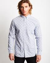 Edwin Standard Polka Dot Shirt Blue