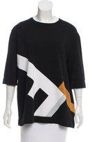 Fendi Geometric Patterned Knit Top w/ Tags